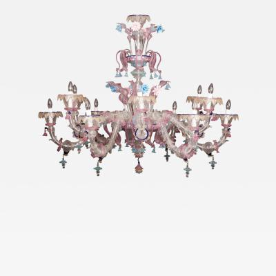 Sumptuous Murano Glass Chandelier 1990s