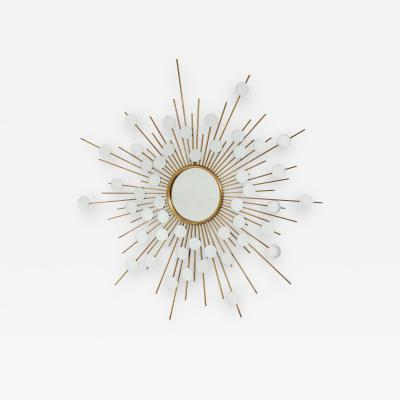 Sunburst Mirror with Spokes of Smaller Mirrors