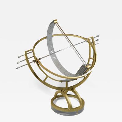Sundial Sun Clock Modernist Mid Century Armillary