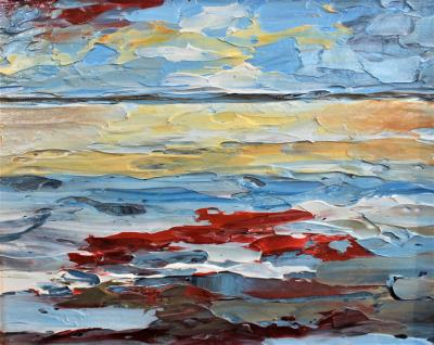 Sunset at Hilton Head Oil Painting by Riverin