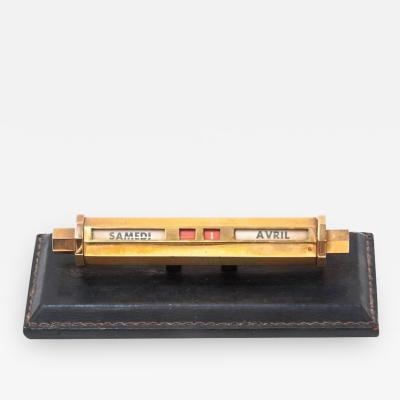Super Quality Desk Calendar in the Manner of Jacques Adnet