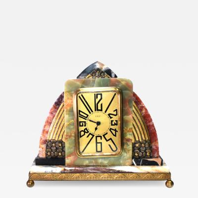 Superb Art Deco French Marble clock 1930s