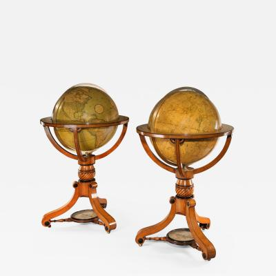 Superb Pair of Cary s 21 inch Terrestrial and Celestial Globes