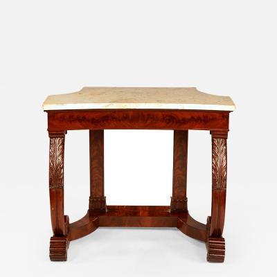 Superb Philadelphia mahogany pier table
