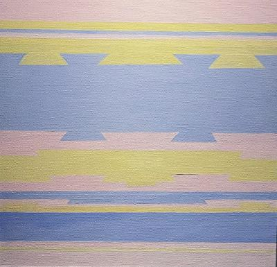 Susan Bleakley Untitled Pink Yellow and Blue
