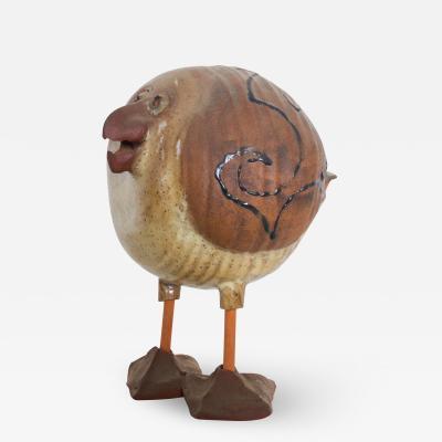 Susan Davis Studio Art Pottery Plump Bird Snazzy Seagull Sculpture Figurine