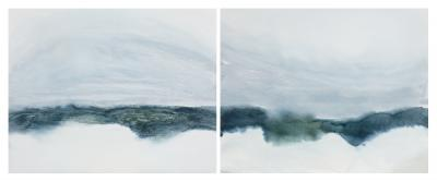 Susan Vecsey Untitled Blue Green Diptych