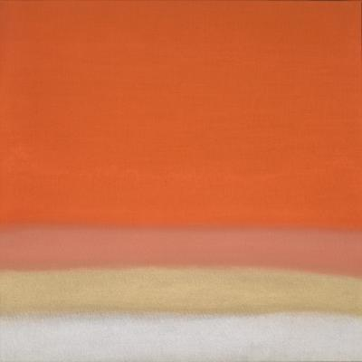 Susan Vecsey Untitled Orange Gold
