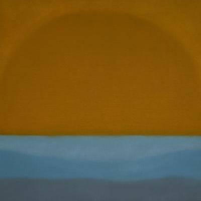 Susan Vecsey Untitled Tangerine Turquoise