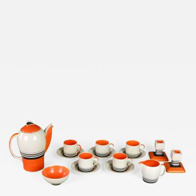 Susie Cooper An English Art Deco Tango Coffee Set by Susie Cooper for Crownworks Burslem