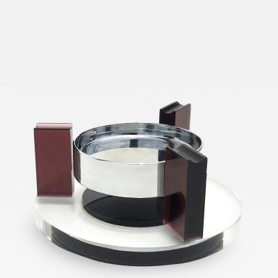 Suspending Ashtray in Acrylic and Metal