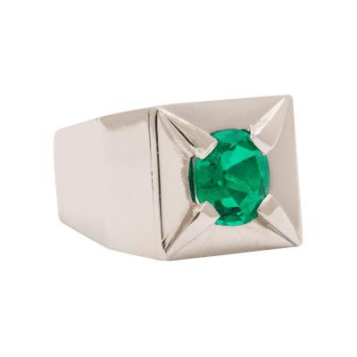 Suzanne Belperron Suzanne Belperron Emerald Platinum Ring