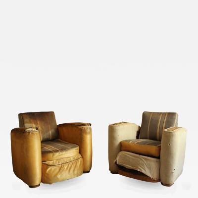 Suzanne Guiguichon Pair of Club Armchairs by Suzanne Guiguichon
