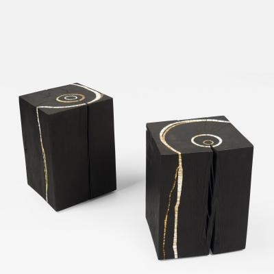 Suzanne Rippe Pair of Side Tables by Suzanne Rippe France 2017