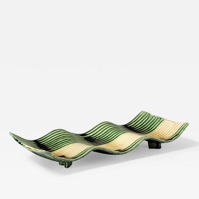 Suzuki Tetsu Green glazed rectangular platter