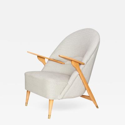 Svante Skogh Scandinavian Modern Lounge Chair by Svante Skogh for S ffle M belfabrik
