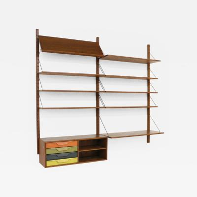 Sven Ellekaer Danish coloured shelving system by Sven Ellekaer 1950s