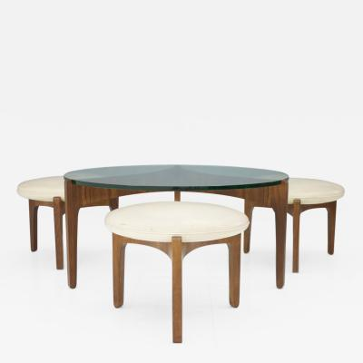 Sven Ellekaer Sven Ellekaer Three Leg Coffee Table and Three Stools Christian Linneberg