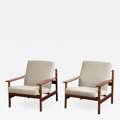 Sven Ivar Dysthe Pair of Rosewood Modern Lounge Chairs