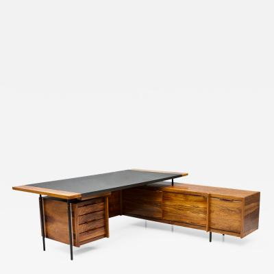 Sven Ivar Dysthe Sven Ivar Dysthe Writing Desk with Sideboard by Dokka Norway 1960s