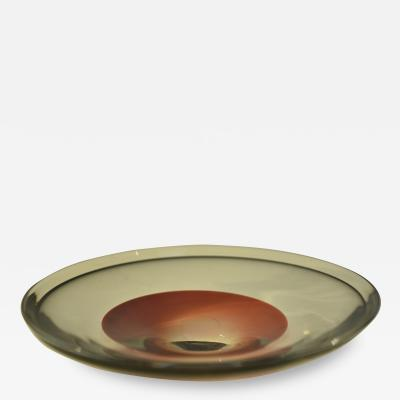 Sven Palmqvist Swedish Orrefors Hand Made Art Glass Bowl Designed by Sven Palmqvist 1950 s