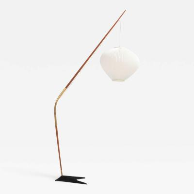 Svend Aage Holm S rensen Holm S rensen Teak and Brass Floor Lamp 1950s