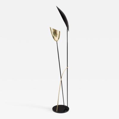 Svend Aage Holm S rensen Scandinavian Floor Lamp in Metal and Brass by Holm Sorensen