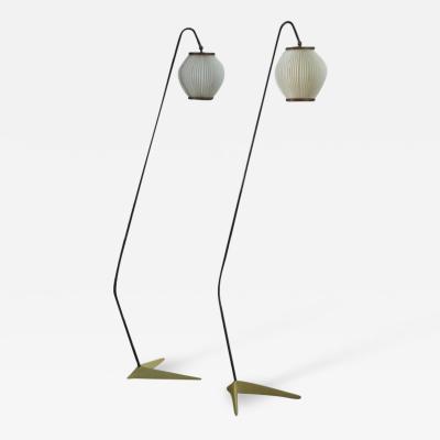 Svend Aage Holm S rensen Svend Aage Holm S rensen pair of floor lamps Denmark 1950s