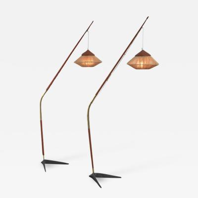 Svend Aage Holm S rensen Svend Aage Holm S rensen pair of floor lamps Denmark