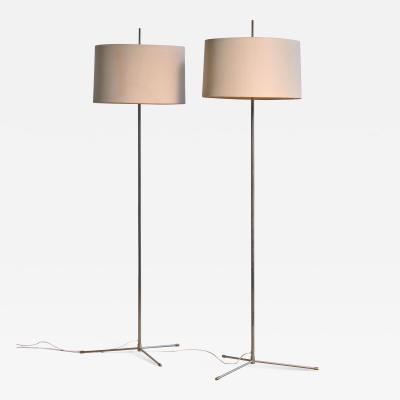 Svend Aage Holm S rensen Svend Aage Holm S rensen pair of steel floor lamps Denmark