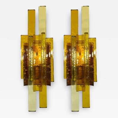 Svend Aage Holm Sorensen Pair of Glass Wall Sconces by Svend Aage Holm Sorensen