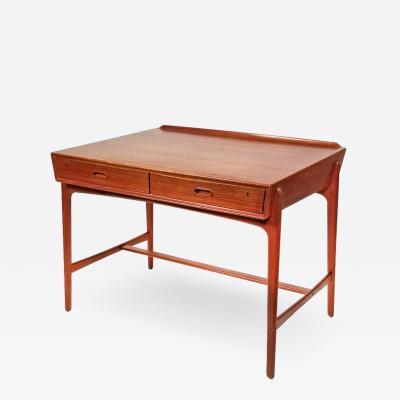 Svend Aage Madsen 1960s Svend Age Madsen Danish Modern Teak Writing Desk for Sigurd Hansen