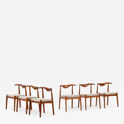 Svend Aage Madsen Dining Chairs Produced by K Knudsen
