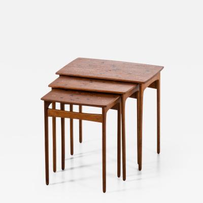 Svend Aage Madsen Nesting Tables Produced by Sigurd Hansen M belfabrik