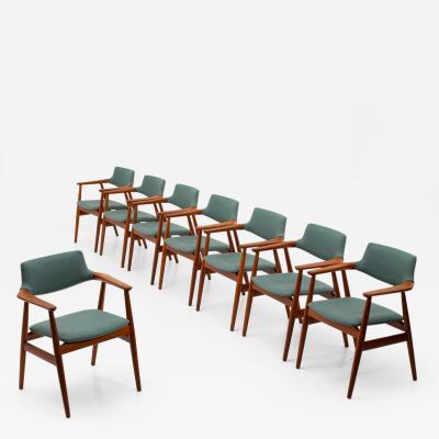 Svend Aage Madsen Set of 8 Danish Midcentury Teak Dining Chairs by Svend Aage Eriksen