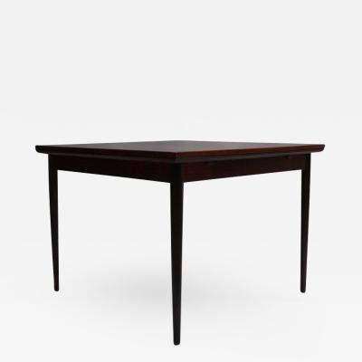 Svend Erik Jensens Mobelfabrik Danish 1960s Square Rosewood Extendable Table by Svend E Jensens Mobelfabrik