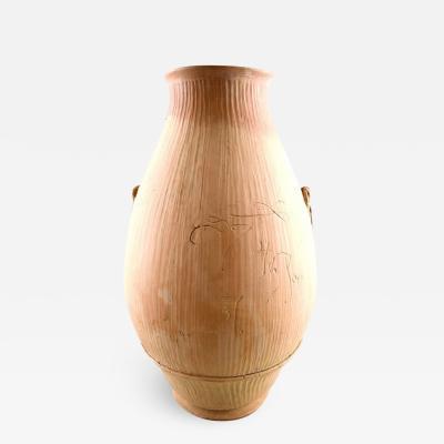 Svend Hammersh i Hammershoj Large unique Svend Hammershoi for K hler unglazed Clay stoneware vase