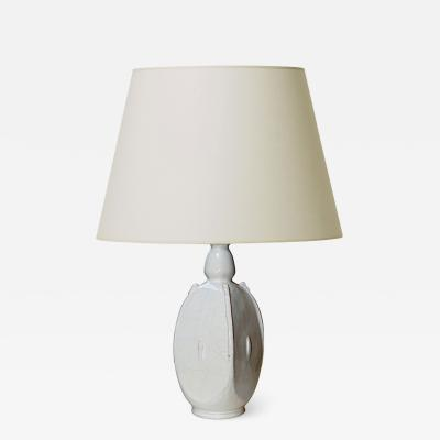 Svend Hammersh i Hammershoj Table lamp with spikey organic form in white by S Hammersh i