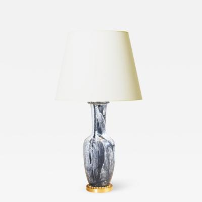 Svend Hammersh i Hammershoj Very Fine Table Lamp with Gold Plate Mounts by Svend Hammershoi
