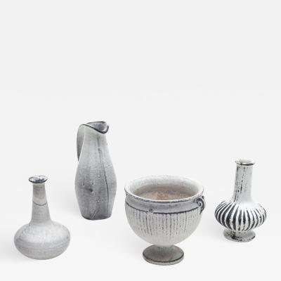 Svend Hammershoj Herman A Kahler Keramik Earthenware Vases by Svend Hammershoj Denmark 1930s