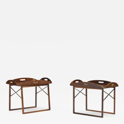 Svend Langkilde Pair of Rosewood Tray Tables by Svend Langkilde