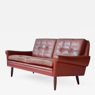 Svend Skipper Sven Skipper Danish Leather Sofa