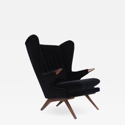 Svend Skipper Wingback Chair Model 91 by Svend Skipper Denmark 1950s
