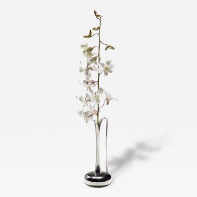 Svend Weihrauch A Danish Sterling Silver Orchid Vase
