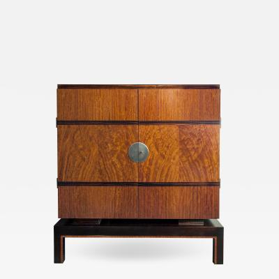 Swedish Art Deco Mahogany Cabinet by Otto Schulz