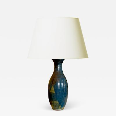 Swedish Art Pottery Table Lamp