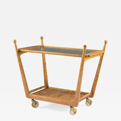 Swedish Birch and Glass Serving Trolley