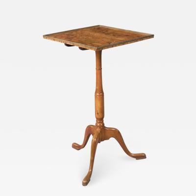 Swedish Burl Walnut Tilt Top Table Late 18th Century