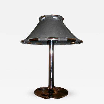Swedish Chrome and Canvas Lamp
