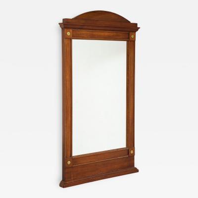 Swedish Empire Mahogany Inlaid Mirror Circa 1820